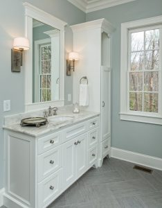 Beautiful bathrooms custom designed and built by Goodwin Foust Custom Homes in Greenville, SC & Lake Keowee, SC