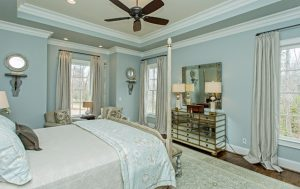 Beautiful bedrooms custom designed and built by Goodwin Foust Custom Homes in Greenville, SC & Lake Keowee, SC