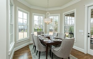 Beautiful dining rooms custom designed and built by Goodwin Foust Custom Homes in Greenville, SC & Lake Keowee, SC