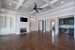 Beautiful great rooms custom designed and built by Goodwin Foust Custom Homes in Greenville, SC & Lake Keowee, SC