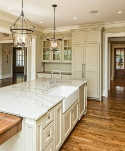 Beautiful kitchens custom designed and built by Goodwin Foust Custom Homes in Greenville, SC & Lake Keowee, SC