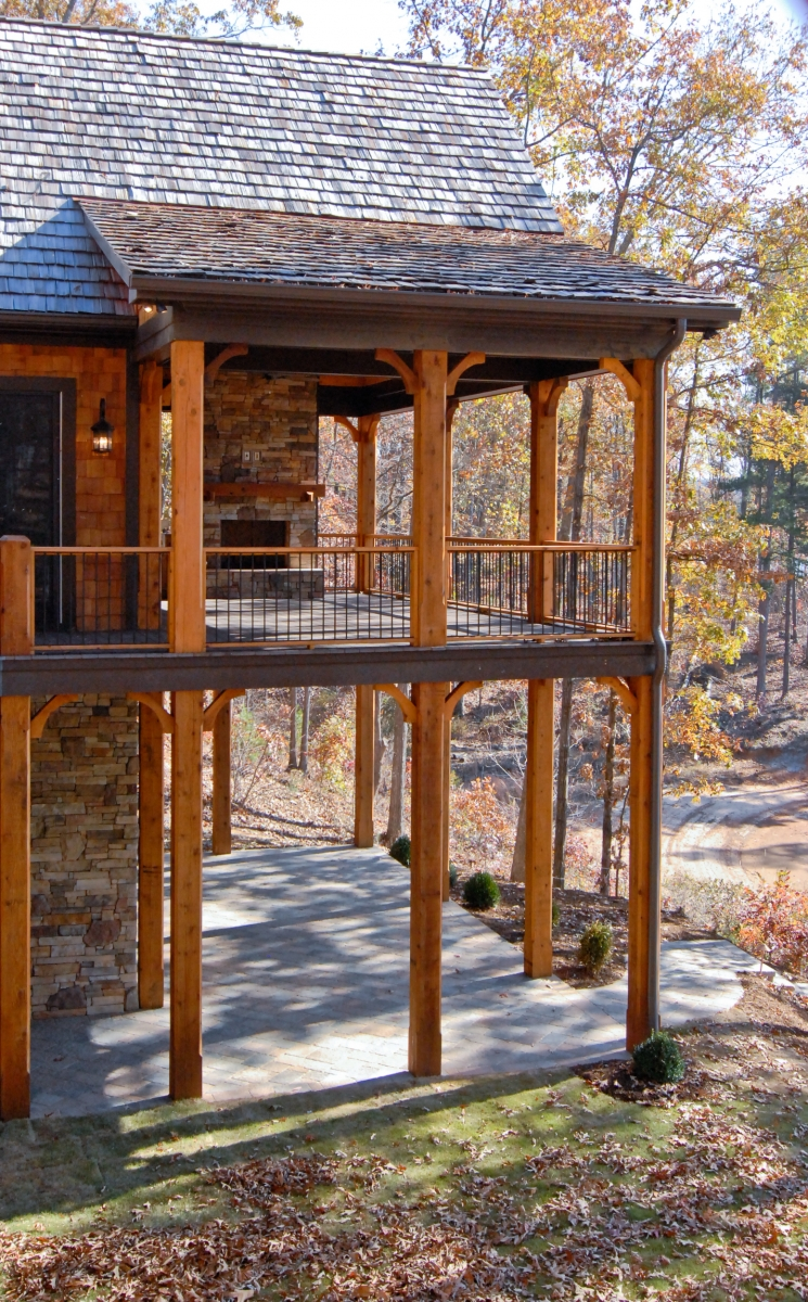 Beautiful outdoor living spaces custom designed and built by Goodwin Foust Custom Homes in Greenville, SC & Lake Keowee, SC